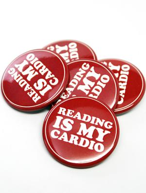 Reading is My Cardio  Button Combo (5 Pack)