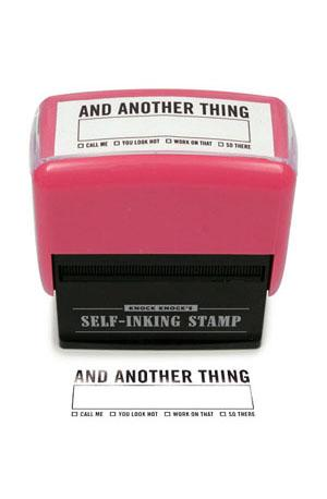 X - And Another Thing Stamp Stationery