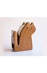 Brown Cat Tape Dispenser Stationery