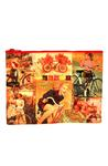 Zip Pouch: She Had Traveled Far (Girl on Bicycle) Tote Bags & Pouches