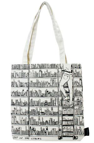Tote Bag: Lost in the Stacks