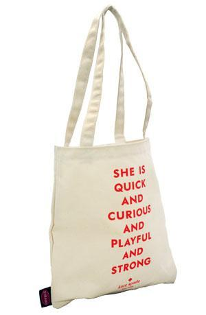 Tote Bag: She is Quick Kate Spade Orange Tote Bags & Pouches